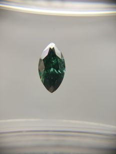 0.40 ct Marquise cut diamond Fancy Dark Bluish Green SI1