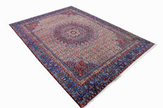 Fine genuine Persian carpet, mood moud 2.70 x 1.90 nice hand-knotted oriental carpet, top quality / condition