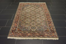 Oriental carpet, Indo Bidjar Herati, 125 x 190 cm, made in India at the end of the last century