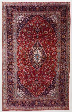 Persian rug, very fine Keshan, as good as new, 374 x 237 cm