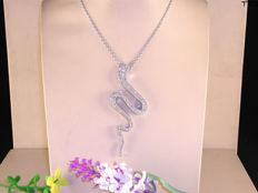 Women's necklace and diamond pendant - 1.80 ct in total