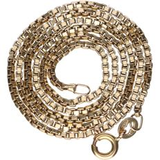 14 kt – Yellow gold Venetian link necklace – Length: 38 cm