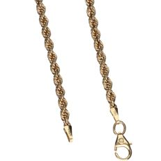 14 kt – Yellow gold, rope link necklace – Length: 42.5 cm