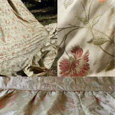 Antique bedspread of Chinese silk brocade
