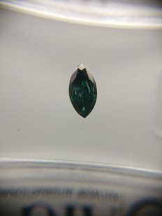 0.28 ct Marquise cut diamond Fancy Dark Greenish Blue SI2