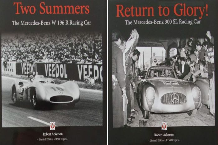 2 Books Limited Edition - Mercedes-Benz  Racing Car 300 SL & W196R - 2015 (2 items)