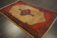 Old Persian carpet, Malayer Hamadan, 130 x 220 cm, natural colours, made in Iran