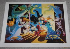 Barks, Carl - Hand-signed poster - Halloween in Duckburg (ca. 1990's)
