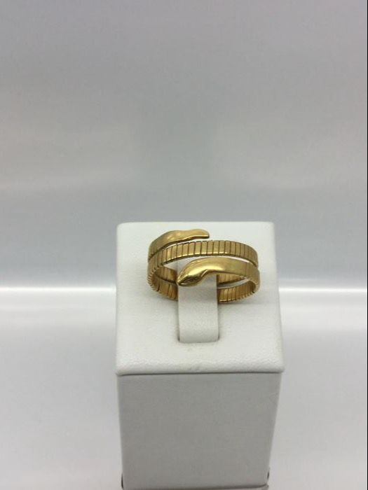 Snake ring, 18 ct gold, 1970s, vintage