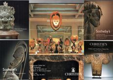Lot of 5 catalogues Tribal Art (Sotheby's & Christie's) with important private collections.