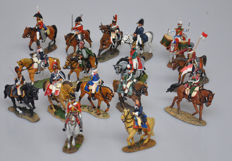 DelPrado - Height 9-13 cm - Lot with 16 metal cavalry Figures of the Napoleonic wars, 20th century