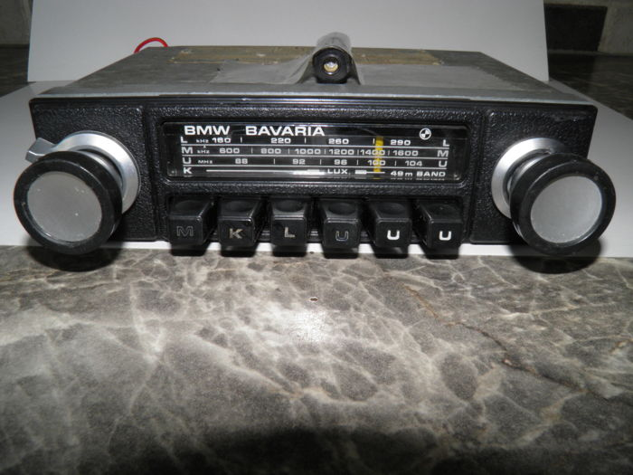 Vintage Bmw Bavaria Auto Radio Jaar 1972 Voor Old Of