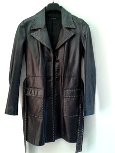 LIU JO - coat in genuine leather - excellent condition
