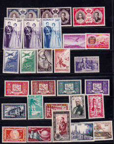 Monaco 1922/1965 - Collection over 8 pages including Airmail - Yvert between no. 56 and 513