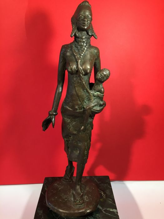 Lost wax bronze sculpture, 1960s/1970s