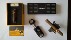 "Cohiba ""Snake Mouth "" Red-Gold Lighter and Sigar Collection"