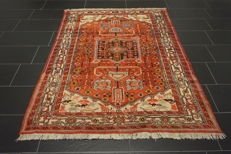 Old high-quality -Persian carpet- --Hamadan-  -made in Iran-  -145 × 200cm-