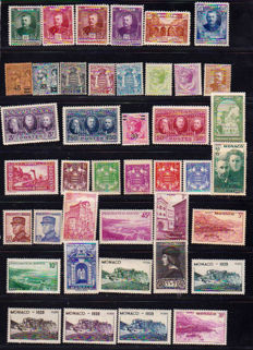 Monaco 1933/1965 - Stamp collection, Airmail and tax - Yvert between no. 57 and 337b