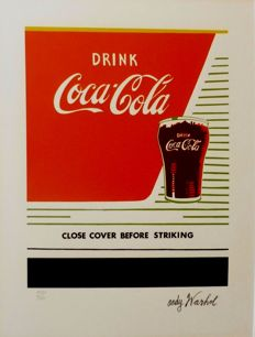 Drink Coca Cola - Lithograph by Andy Warhol - Numbered with Printed signature