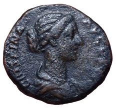 Roman Empire - Crispina (wife of (Commodus 177-192 AD) - Æ Dupondius or As (Bronze, 24mm; 10,03g) - Rome mint, ca. 178-192 AD - Bust of  / JunCrispinao Lucina - RIC 680; Cohen 24
