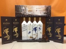 4 bottles - Johnnie Walker Blue Label Year of the Monkey Collection -  Limited Taiwan Edition