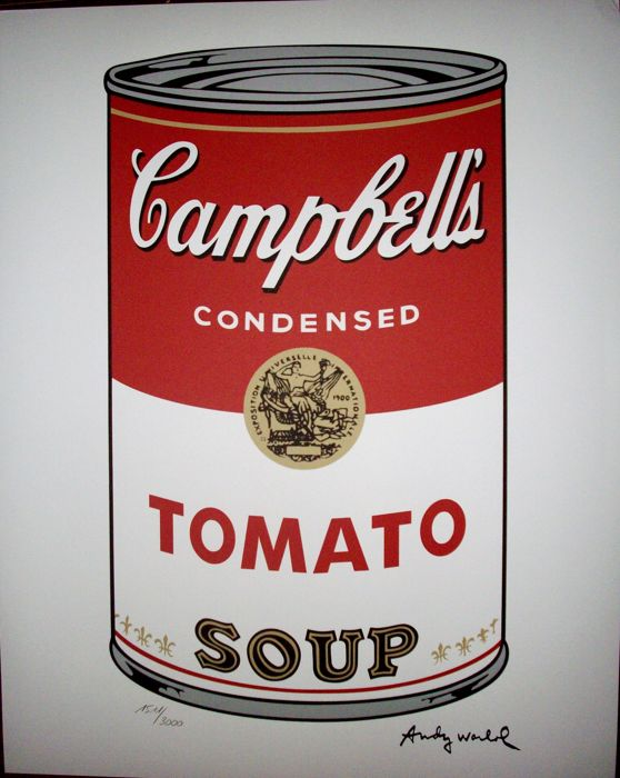 Tomato (Campbell´s) - Lithograph by Andy Warhol - Numbered with Plate signed