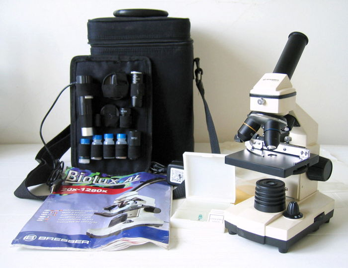 Microscope bresser biolux al with hd usb camera catawiki