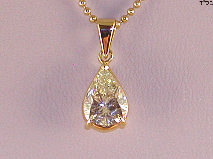 Pear shaped diamond pendant 2,05ct.