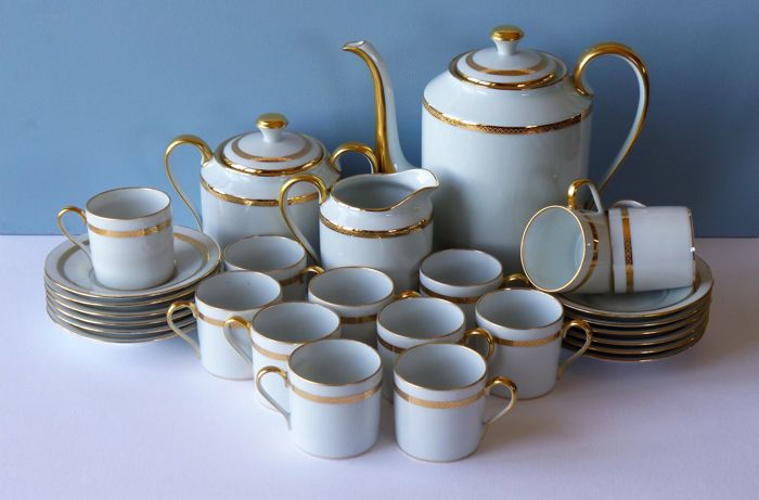 R. Leclair Limoges porcelain coffee set
