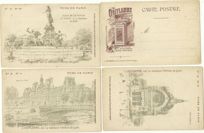 Very Nice Lot Of 47 Cards On The City Paris Old Trades Disasters Various Years 1900 1910