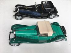 Franklin Mint - Schaal 1/24 - Bugatti Royale 1929 en Bugatti Royal Coupe Napoleon 1930