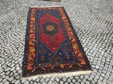 Old Unique Turkish / Turkey Rug with Kazak Design 264x124 cm -hand knotted
