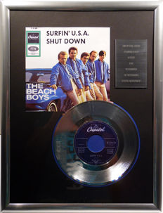 "The Beach Boys - Surfin USA - 7"" Single Capitol Records platinum plated record Special Edition"