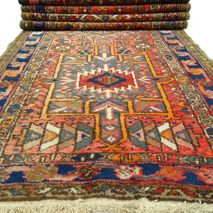 "Semi-antique Karadje - 266 x 80 cm - ""Vintage Persian Runner in beautiful condition"" - With certificate."