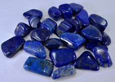 Lot of Best Quality Lapis Lazuli tumbles  - 1070gr (24)