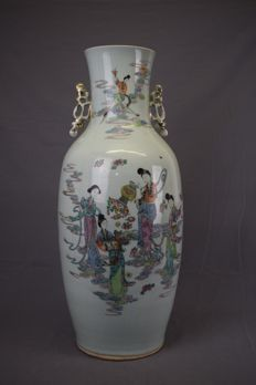 Porcelain collar vase - China - approx. 1900