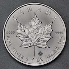 Canada - 5 dollars 2016 - maple leaf - 1 oz 999 silver / silver coin