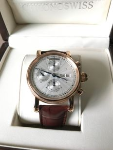Chronoswiss 18K Rose Gold Chronograph Day Date Automatic Men's Watch (CH-7541KR) - Brand New & Unworn