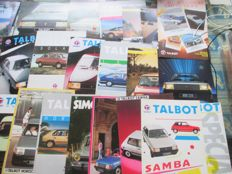 Car brochures (Talbot/Simca,  27x, 1971-1985)