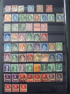 Switzerland 1854/1995 - Batch of stamps in 3 stock books and circular booklet