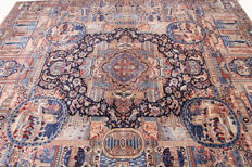 Rare Persian carpet pictures Kashmar Zarathusa King carpet 3.85 x 3.00 Oriental carpet GREAT CONDITION RARE