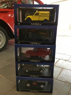 Norev - Scale 1/18 - Lot of 5 models: 5 x Citroen 2CV