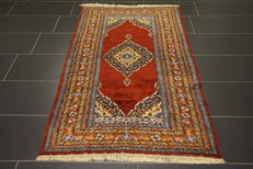 Oriental carpet, 100 x 170 cm, Qom, wool with silk, made in Pakistan