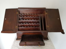 Beautiful colonial wooden writer's chest, Mid 20th century