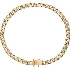 14 kt - Yellow gold fantasy link bracelet with a box clasp with a safety catch - length: 18 cm.