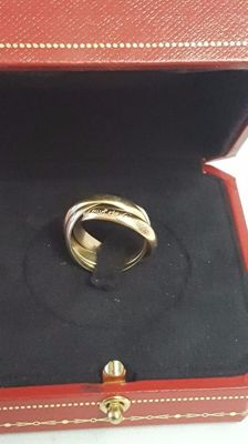 Les Must De Cartier Collection Trinity Gold Ring, tri-colour gold/8 kt/size 53/Cartier box - Size 53