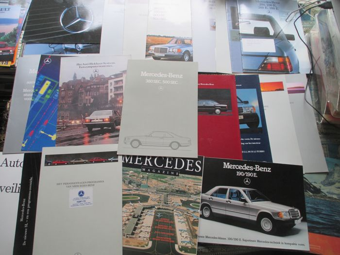 Car brochures (Mercedes, 24x, 1980-1996)