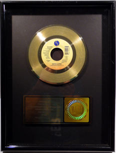"Madonna - Express Yourself -  7"" US RIAA Sales Music Single Record Award gold record (  golden )"