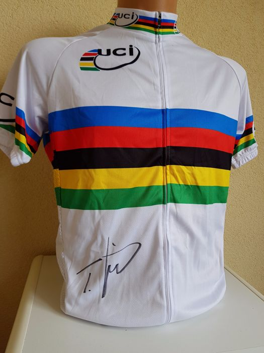Tony Martin - 4x Worldchampion Cycling - hand signed worldchampion jersey  + COA.