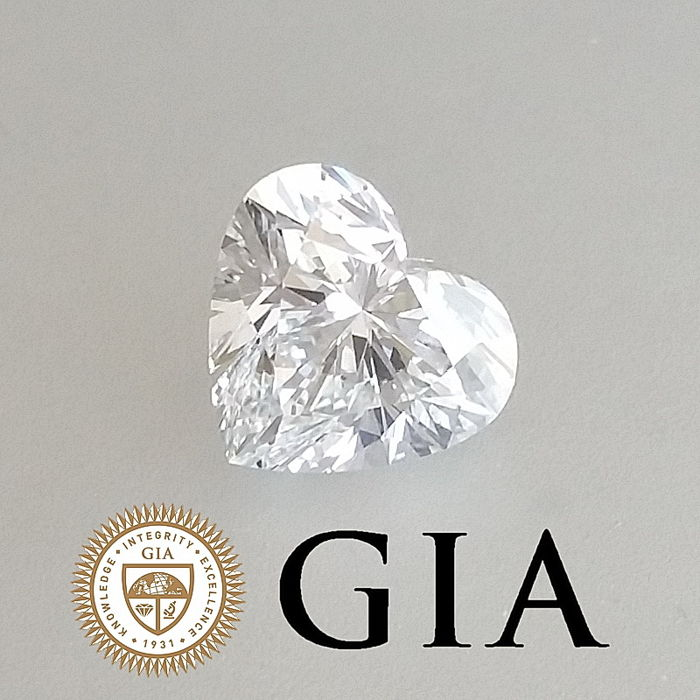 GIA 1.00 ct D/VVS2 Heart Brilliant Diamond ***Original Image***
